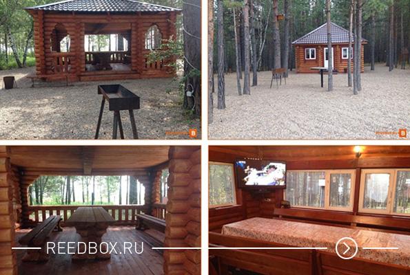 Аренда беседки для шашлыка на базе отдыха в Красноярске