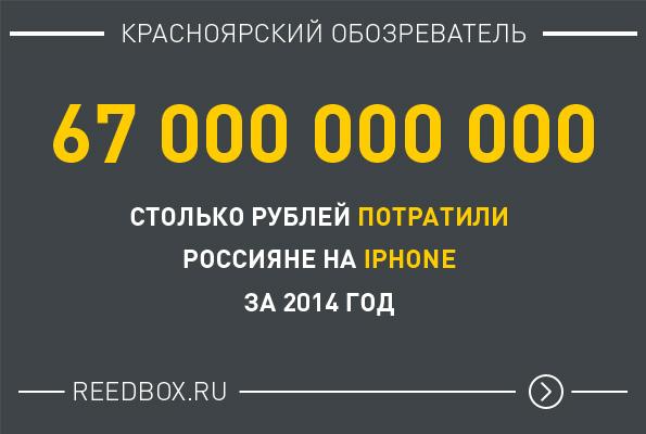 Столько потратили рублей на Айфон