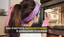 Как очистить микроволновку