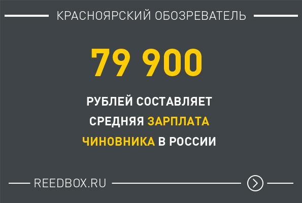 Средняя зарплата чиновника в России