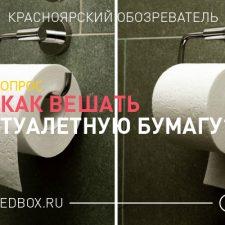 Опрос — Как правильно вешать туалетную бумагу