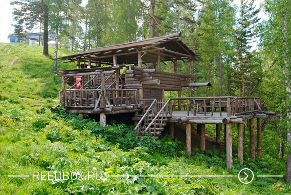 Беседка в бобровом логу Красноярска