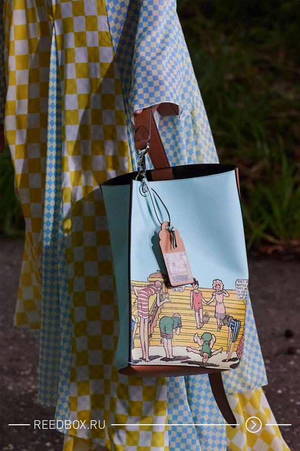 модная сумка большая и широкая